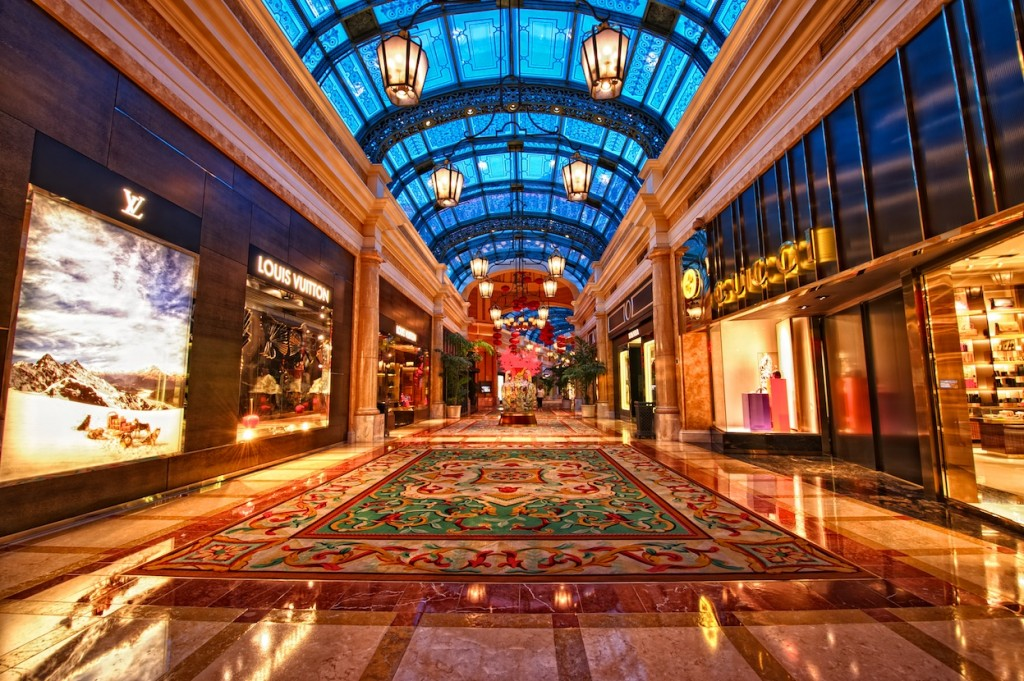 Luxury shopping at Bellagio