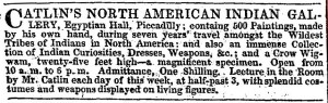 Advertisement from The Era newspaper, 1840