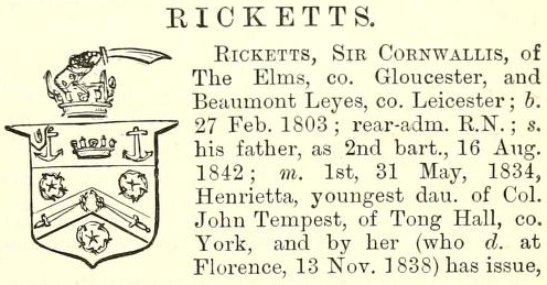 from Burke's Peerage (1869)