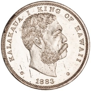 Silver dollar of the Hawaiian Kingdom, 1883